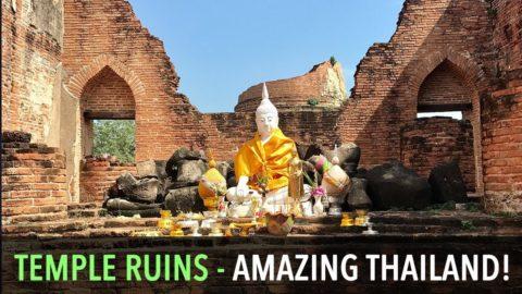 Thai Temple Ruins Near Ayutthaya, Thailand