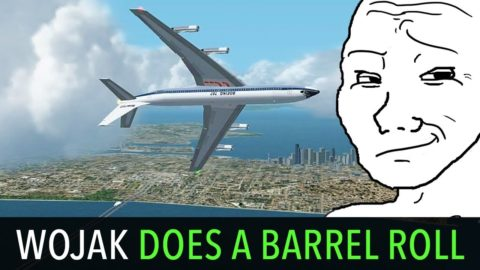 Wojak Hijacks a Plane in Seattle and does a Barrel Roll