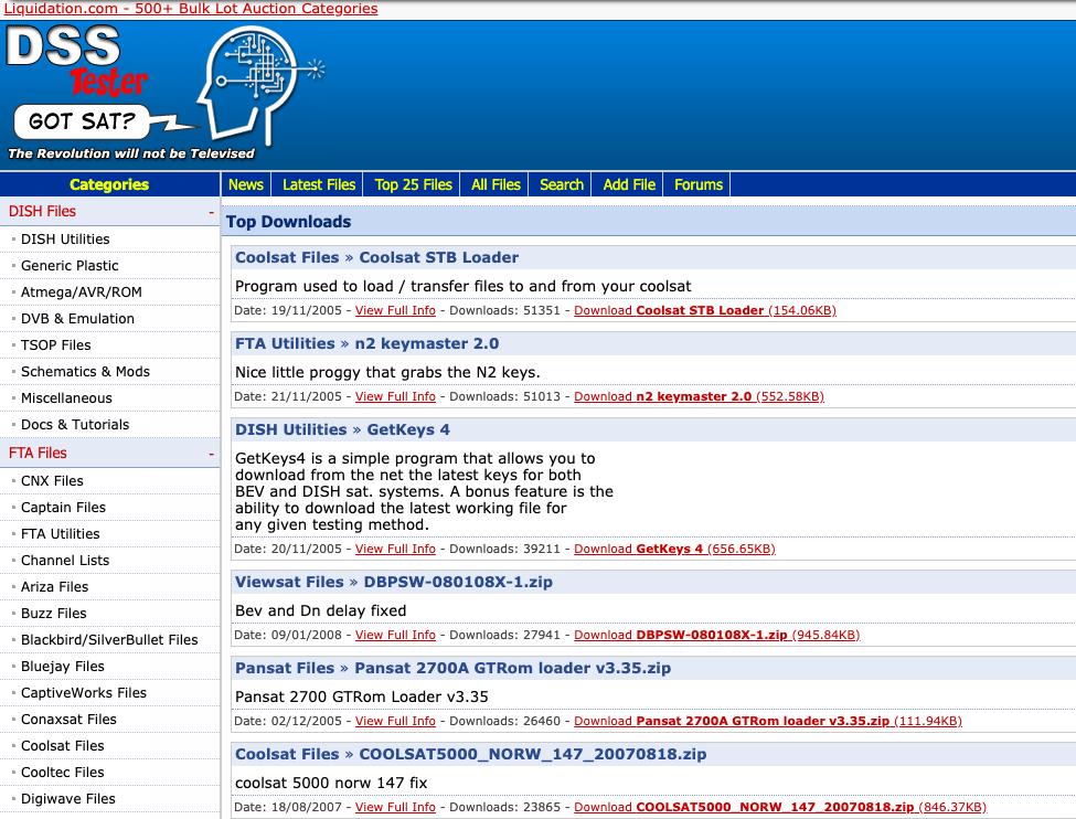 DSSTester files section